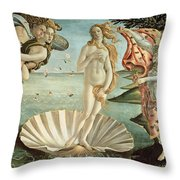 The Birth of Venus Throw Pillow by Sandro Botticelli