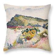 The Black Cape Pramousquier Bay Throw Pillow by Henri-Edmond Cross