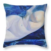 The Blue Ice Throw Pillow by Sergey Ignatenko