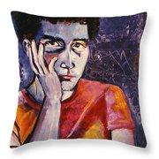 The Blue Self Throw Pillow by John Keaton