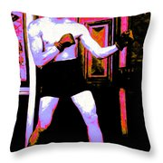 The Boxer - 20130207 Throw Pillow by Wingsdomain Art and Photography