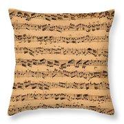 The Brandenburger Concertos Throw Pillow by Johann Sebastian Bach