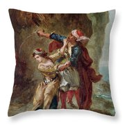 The Bride Of Abydos Throw Pillow by Ferdinand Victor Eugene Delacroix