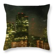 The Bright City Lights Throw Pillow by Laurie Search