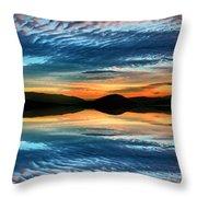The Brush Strokes Of Evening Throw Pillow by Tara Turner