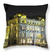 The Bund - Shanghai's Signature Strip Of Historic Riverfront Architecture Throw Pillow by Christine Till