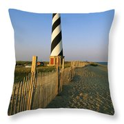 The Cape Hatteras Lighthouse Throw Pillow by Steve Winter