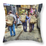 The Carriers  Throw Pillow by Michael Garyet
