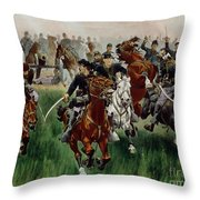The Cavalry Throw Pillow by WT Trego