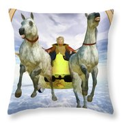 The Chariot Throw Pillow by John Edwards