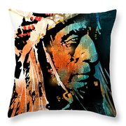 The Chief Throw Pillow by Paul Sachtleben