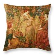 The Child Throw Pillow by Thomas Edwin Mostyn