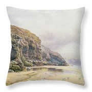 The Coast of Cornwall  Throw Pillow by John Mogford