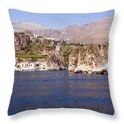 The Coast Of Zingaro Reserve Throw Pillow by Focus  Fotos