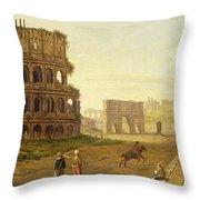 The Colosseum Throw Pillow by John Inigo Richards