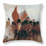 The Colours Throw Pillow by Elizabeth Southerden Thompson