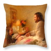 The Comforter Throw Pillow by Greg Olsen