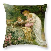 The Coming Nelson Throw Pillow by Frederick Morgan