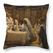 The Communion of the Apostles Throw Pillow by Tissot