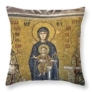 The Comnenus Mosaics In Hagia Sophia Throw Pillow by Ayhan Altun