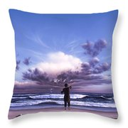 The Conductor Throw Pillow by Jerry LoFaro