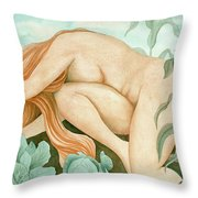 The Corn Maiden Throw Pillow by Sheri Howe