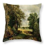 The Cornfield Throw Pillow by John Constable