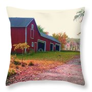 The Cottonwood In Fall Throw Pillow by Desiree Paquette