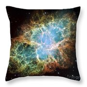 The Crab Nebula Throw Pillow by Stocktrek Images
