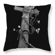 The Cross And The Vine Throw Pillow by Jyvonne Inman