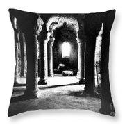 The Crypt Throw Pillow by Simon Marsden