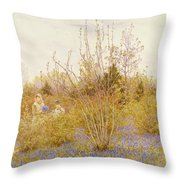 The Cuckoo Throw Pillow by Helen Allingham
