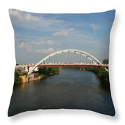 The Cumberland River in Nashville Throw Pillow by Susanne Van Hulst