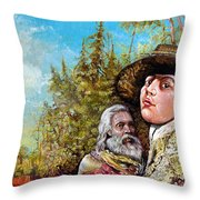 The Dauphin And Captain Nemo Discovering Bogomils Island Throw Pillow by Otto Rapp