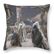 The Death Of Jesus Throw Pillow by Tissot