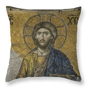 The Dees Mosaic In Hagia Sophia Throw Pillow by Ayhan Altun