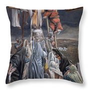 The Descent From The Cross Throw Pillow by Tissot