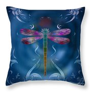 The Dragonfly Effect Throw Pillow by Bedros Awak