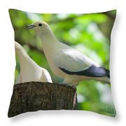 The Duet Throw Pillow by Judy Kay