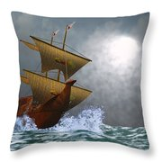 The Eagle Throw Pillow by Corey Ford