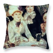 The End Of Luncheon Throw Pillow by Pierre Auguste Renoir