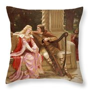 The End Of The Song Throw Pillow by Edmund Blair Leighton
