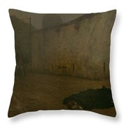 The Execution Of Marshal Ney Throw Pillow by Jean Leon Gerome