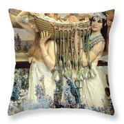 The Finding of Moses by Pharaoh's Daughter Throw Pillow by Sir Lawrence Alma-Tadema
