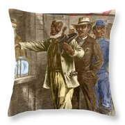 The First Vote 1867 Throw Pillow by Photo Researchers