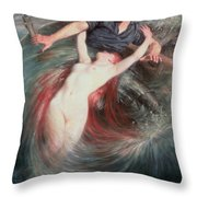 The Fisherman And The Siren Throw Pillow by Knut Ekvall