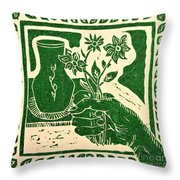 The Florist Throw Pillow by Caroline Street