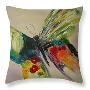 The Flying Butterfly Throw Pillow by Clement Tsang