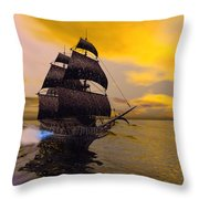 The Flying Dutchman Throw Pillow by Corey Ford