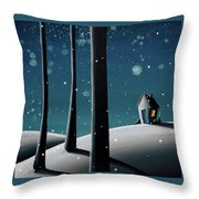 The Frost Throw Pillow by Cindy Thornton